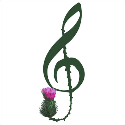 Treble Cleft Thistle Logo by Tegan Donnely